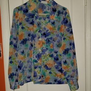Blair Floral Print Button Up Shirt
